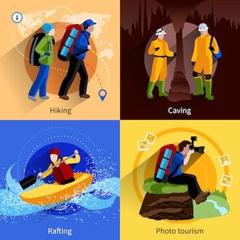 Conjunto de iconos de turismo