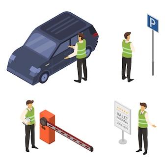 Conjunto de iconos de valet