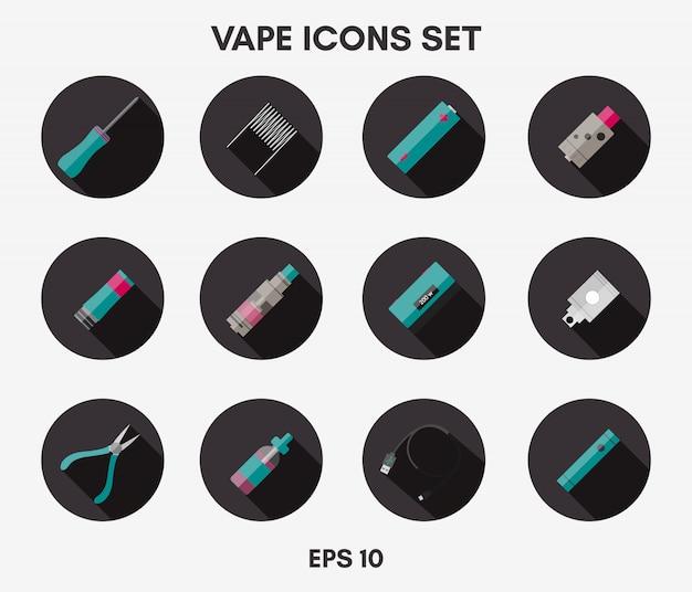 Conjunto de iconos de vape