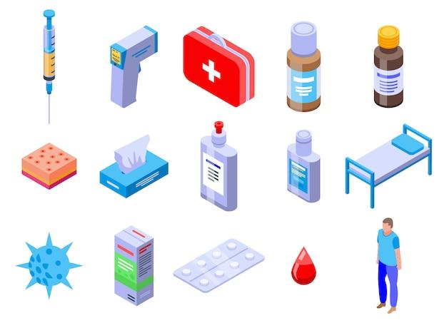 Conjunto de iconos de varicela