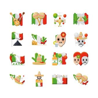 Conjunto de iconos de variedad