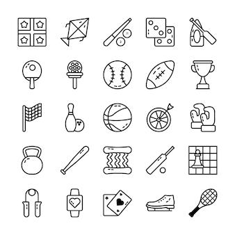Conjunto de iconos de vector de deportes