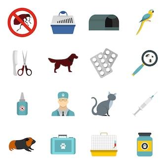 Conjunto de iconos veterinarios
