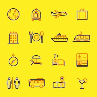 Conjunto de iconos de viaje