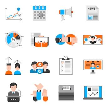 Conjunto de iconos de votación y votación