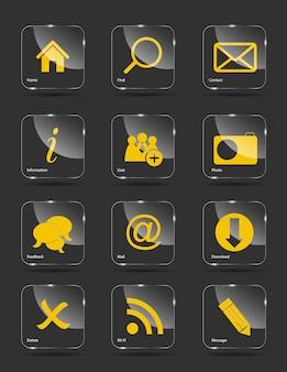 Conjunto de iconos para web.