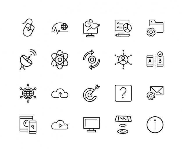 Conjunto de iconos web