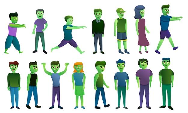 Conjunto de iconos de zombie
