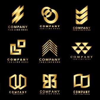 Conjunto de ideas de diseño de logotipo de la empresa