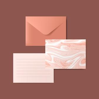 Conjunto de ilustración de carta de mármol