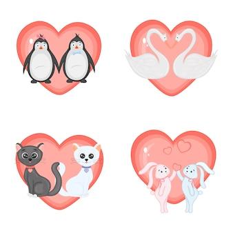 Conjunto de ilustración para el día de san valentín