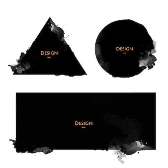 Conjunto de ilustración de diseño de plantillas de insignia de anuncio