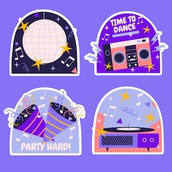 Conjunto de ilustración de elementos de fiesta de cumpleaños