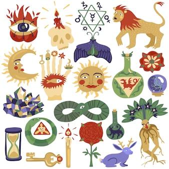 Conjunto de ilustración mágica