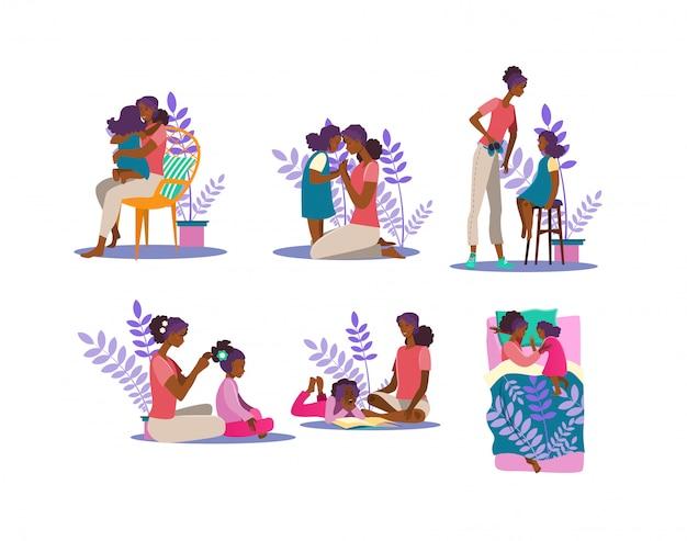 Conjunto de ilustración de maternidad