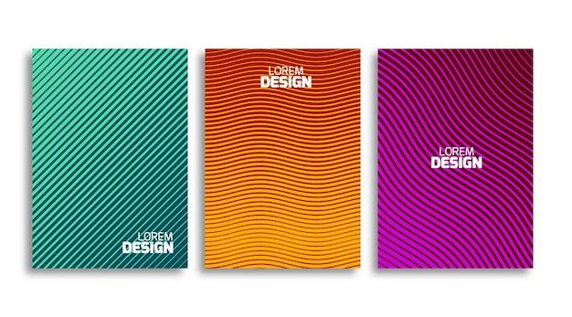 Conjunto de ilustración de plantilla de diseño de cubiertas mínimas