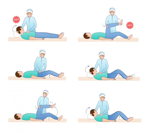 Conjunto de ilustración de síntomas meníngeos