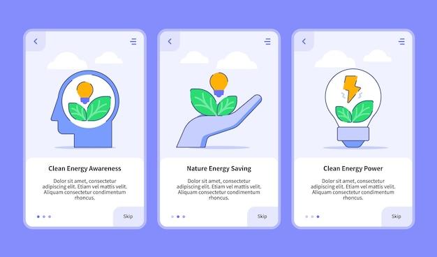 Conjunto de ilustraciones de energía renovable para aplicaciones móviles