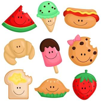 Conjunto de imágenes de alimentos