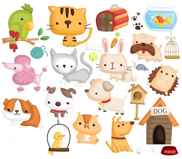 Conjunto de imágenes de mascotas