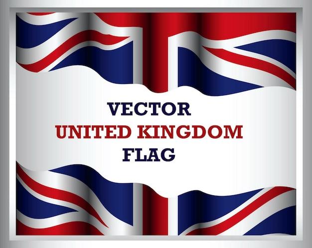 Conjunto de imágenes prediseñadas de bandera de reino unido aislado con varios distintivos
