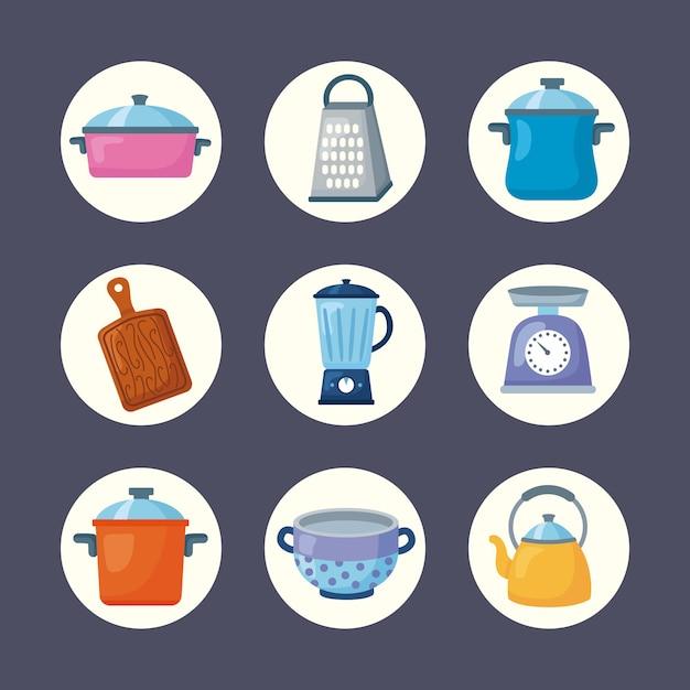 Conjunto de imágenes prediseñadas de cocina