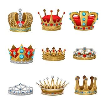 Conjunto de imágenes prediseñadas de corona