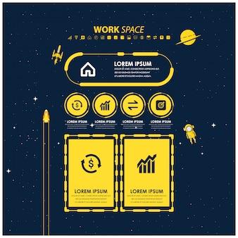 Conjunto de infografía para plan de negocios.