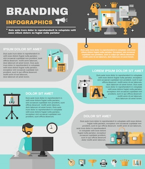 Conjunto de infografías de marca