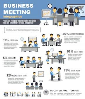 Conjunto de infografías de reunión