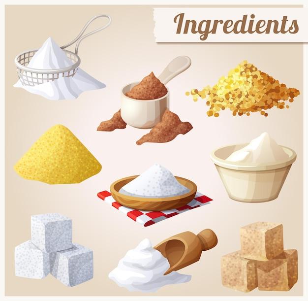 Conjunto de ingredientes alimentarios