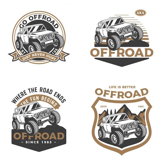 Conjunto de insignia de coche offroad