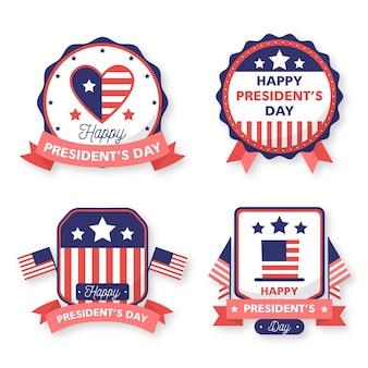 Conjunto de insignia del día del presidente.