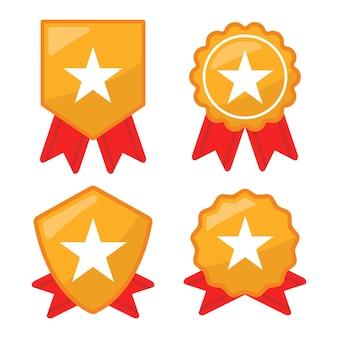 Conjunto de insignia de estrella