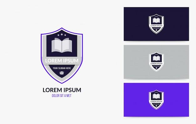 Conjunto de insignia de logotipo de la escuela universitaria y universitaria