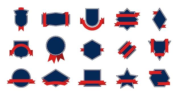 Conjunto de insignia de premio azul