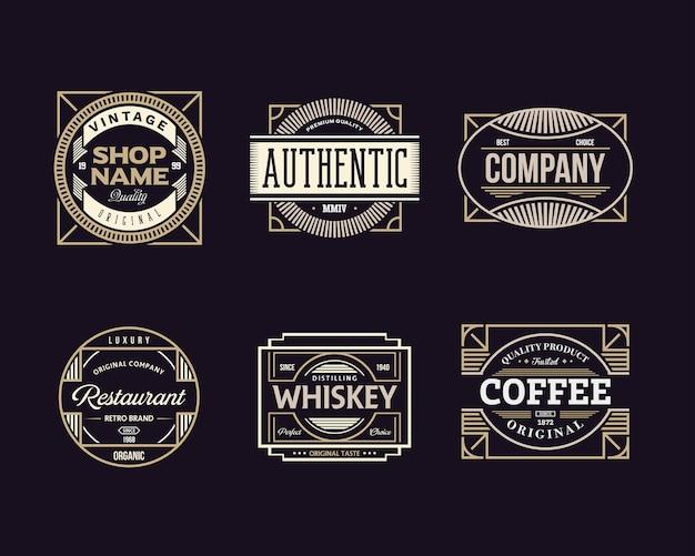 Conjunto de insignia vintage