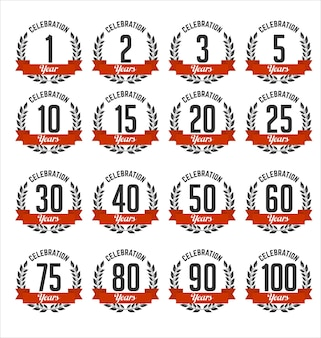 Conjunto de insignias de aniversario