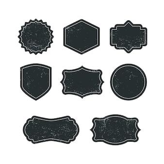 Conjunto de insignias en blanco de grunge