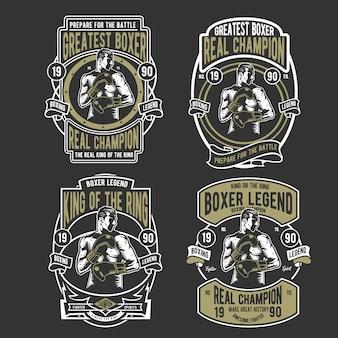 Conjunto de insignias de boxeo