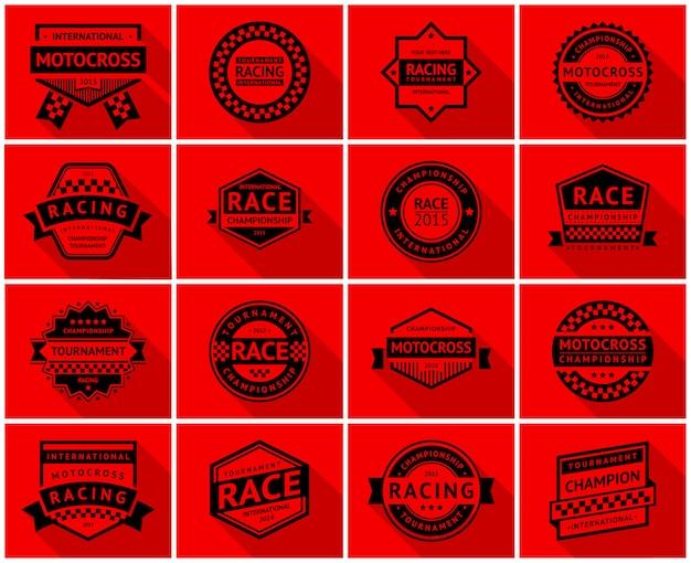 Conjunto de insignias de carreras