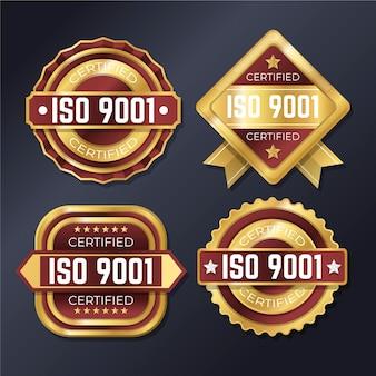 Conjunto de insignias de certificación iso