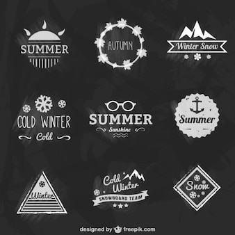Conjunto de insignias de estaciones del año