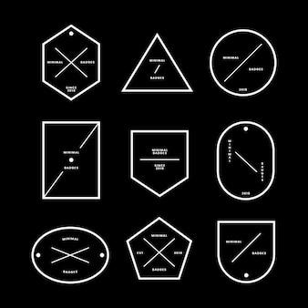 Conjunto de insignias y etiquetas mínimas