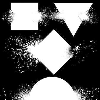 Conjunto de insignias explosivas.