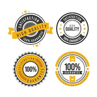 Conjunto de insignias de garantía 100%