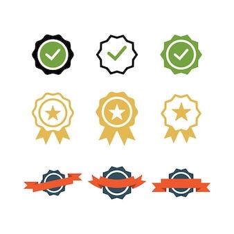 Conjunto de insignias de lista de verificación