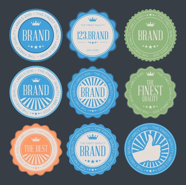 Conjunto de insignias de logotipo vintage retro