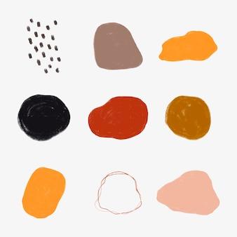Conjunto de insignias de manchas de acuarela de colores