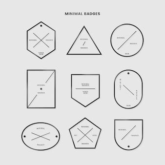 Conjunto de insignias mínimas